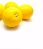 Vier sinaasappelen op Achtergrond Royalty-vrije Stock Afbeelding