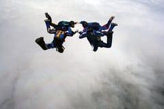 Vier Skydivers Stockfotografie