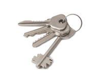 Vier sleutels op ring 2 Royalty-vrije Stock Foto's