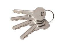 Vier sleutels op ring Stock Afbeeldingen