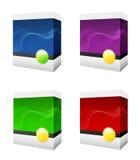Vier Software-Kästen Lizenzfreie Stockbilder