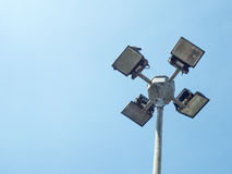 Vier Solarstraßenlaterne Stockfoto