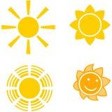 Vier Sonnen Stockbild