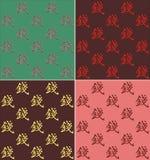 vier soorten vectorachtergronden met Chinees karaktergeld Royalty-vrije Stock Fotografie