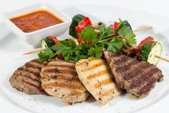 Vier soorten vlees Royalty-vrije Stock Foto's