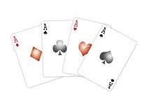 Vier Spielkarten Lizenzfreie Stockfotografie