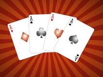 Vier Spielkarten Lizenzfreie Stockfotos