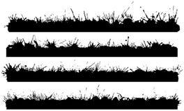Vier splattered Ränder Lizenzfreie Stockbilder