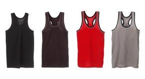 Vier sportmouwloos onderhemden Royalty-vrije Stock Fotografie