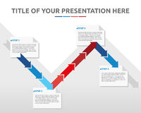 Vier stappen informatie-grafisch malplaatje Royalty-vrije Stock Afbeelding