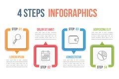 Vier stappeninfographics vector illustratie