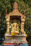 Vier stellten Buddha gegenüber Stockbilder