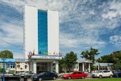 Vier-Stern-Hotel beim Schwarzen Meer Stockfoto