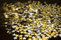 Vier sterrenachtergrond Stock Afbeelding