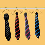Vier stropdassen Vector Illustratie