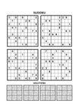 Vier sudokuspelen met antwoorden Reeks 10 vector illustratie