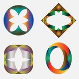 Vier Symbole vektor abbildung