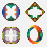 Vier Symbolen Royalty-vrije Stock Afbeelding