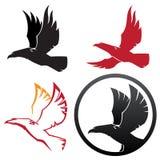 Vier symbolen van de adelaarsillustratie Stock Foto