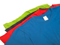 Vier T-Shirts Lizenzfreie Stockbilder