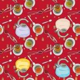 Het patroon van het huistoebehoren van de thee Royalty-vrije Stock Foto's