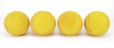 Vier tennisballen Stock Foto's