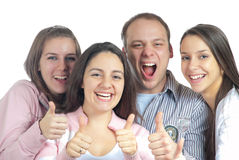 Vier tevreden vrienden Stock Fotografie