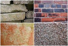 Vier Texturen I Stock Foto's
