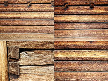 Vier texturenstralen en houten raad royalty-vrije stock fotografie