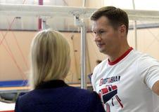 Vier-tijd Olympische kampioen Alexei Nemov in de sporten complexe ` Olympische ` royalty-vrije stock foto