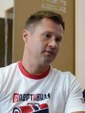 Vier-tijd Olympische kampioen Alexei Nemov in de sporten complexe ` Olympische ` royalty-vrije stock afbeelding