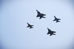 Vier USA F-16 Lizenzfreie Stockfotos