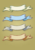 Vier vector oude banners Royalty-vrije Stock Fotografie