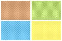 Vier vectorachtergronden Royalty-vrije Stock Fotografie
