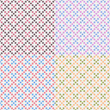 Vier vektorgeometrische nahtlose Muster Stockfotos