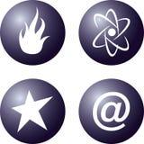 Vier vektorikone Lizenzfreies Stockbild