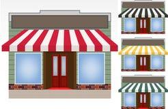 Vier verschiedene Farbenmarkisen Lizenzfreie Stockbilder