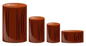 Vier verschiedene Größen des Klotzes Lizenzfreie Stockbilder