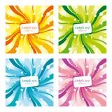 Vier verschillend gekleurde achtergronden Royalty-vrije Stock Foto's