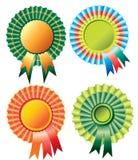 Vier verschillend rozetlint Royalty-vrije Stock Afbeelding