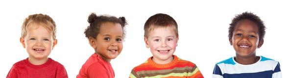 Vier verschillende kinderen royalty-vrije stock afbeelding