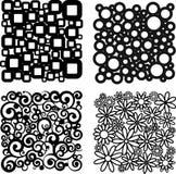 Vier verschillende patronen Stock Foto