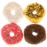 Vier verse donuts Stock Fotografie