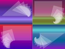 Vier Visitenkarten Lizenzfreie Stockfotografie