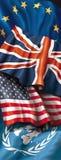 Vier vlaggen Royalty-vrije Stock Afbeeldingen