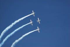 Vier vliegtuigen royalty-vrije stock afbeeldingen