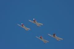 Vier vliegtuigen bij de lucht-show Royalty-vrije Stock Foto