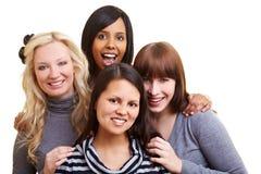 Vier vrouwen in een team Royalty-vrije Stock Afbeelding