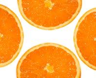 Vier vruchten sinaasappel Stock Afbeelding