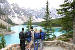 Vier Wandelaars Stock Afbeelding